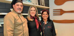 Chef Marco Donato, Claudia Marques gerente comercial da Kitchens e a Chef Lucia Gagliasso