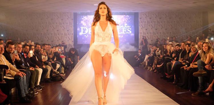 Luana Piovani desfila de lingerie