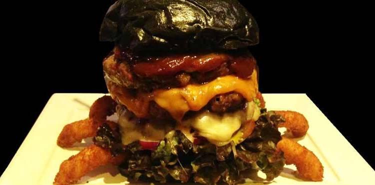 hambúrguer para o dia das bruxas