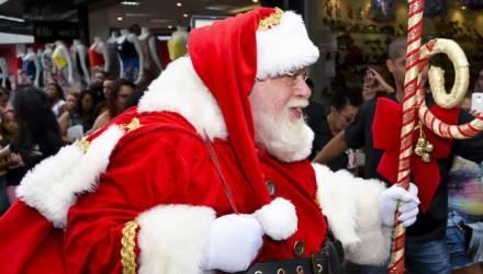 chegada do Papai no Noel Pátio Alcântara