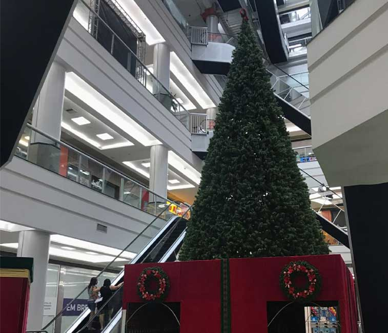 Papai-Noel no Via Brasil Shopping
